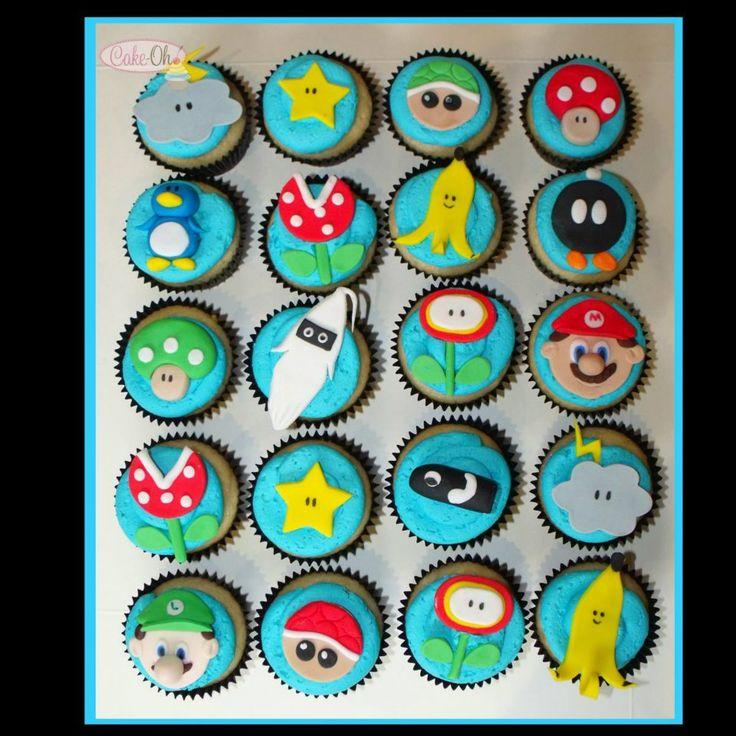 Super Mario Cart Cupcakes