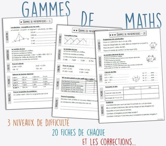 J'ai découvert les gammes de mathématiques chez Mélimélune. C'était d'ailleurs mon coup de cœur de février 2016. Alors je me suis attelée à la tâche pour faire des gammes pour mes CM1-CM2 Le p