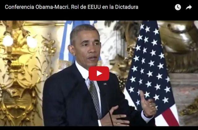 OBAMA JUSTIFICO LA ACTUACION DE EEUU DURANTE LA DICTADURA MILITAR EN ARGENTINA Y LA REGION    EE.UU. y la dictadura en Argentina: mirá los largos rodeos de Obama El presidente de los Estados Unidos Barak Obama debió responder sobre el rol que tuvo su país durante la pasada dictadura militar en Argentina.Y aunque no esquivo la pregunta formulada por un periodista durante la conferencia de prensa que compartió con su par argentino Mauricio Macri dudó y no logró redondear una respuesta sólida…