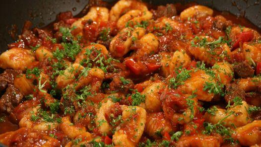 Gnocchi with Beef Ragu. Delicious!!!