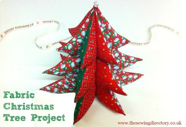 Christmas tree sewing project for beginners