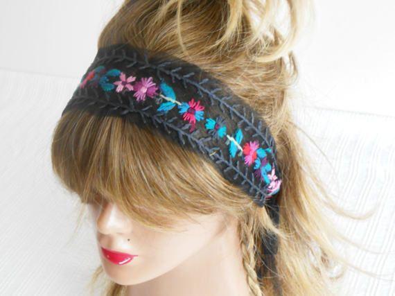 Processing headband Black Hippie headband Boho headband