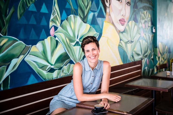Tamara Armstrong with Wall Mural