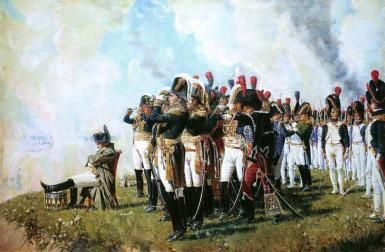 Napoleon at Borodino. The Battle of Borodino was fought September 7, 1812, during the Napoleonic Wars, and again Napoléon vanquished Russian forces. (1803-1815).