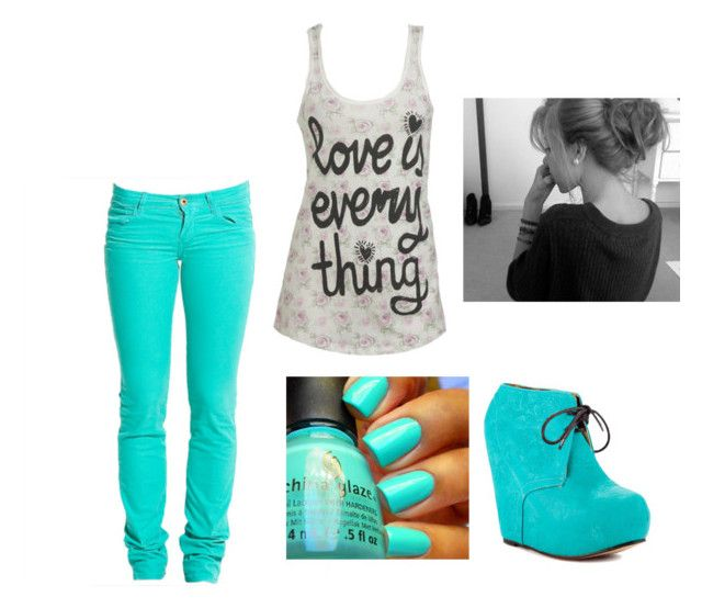 """"""":L"""" by puckiiloveyou ❤ liked on Polyvore featuring Replay, Wet Seal and Iron Fist"""