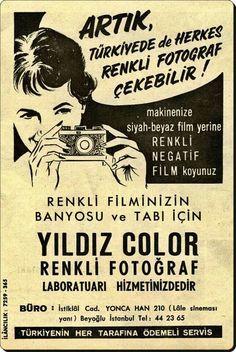 ''artık Türkiye'de herkes renkli fotoğraf çekebilir!'' #eskireklamlar #Türkiye (kaynak: Hayat Mecmuası, 1965 ) #istanlook