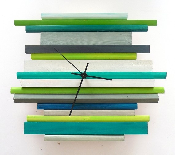 Sticks Sculpture Clock $69.00 on etsy