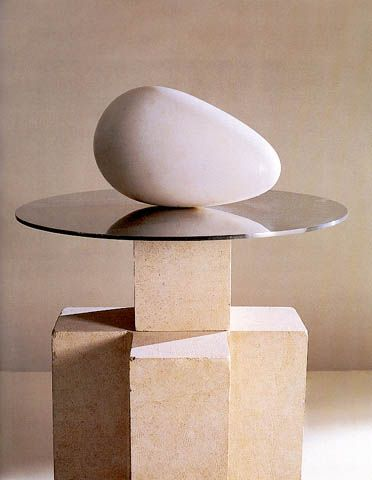 brancusi_beginning_of_the_world_1920 marble, metal, stone.