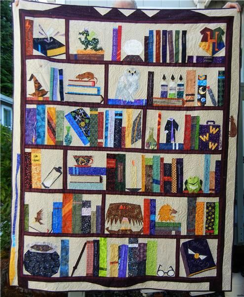 Judy S Harry Potter Quilt Quilts Library And Bookcase