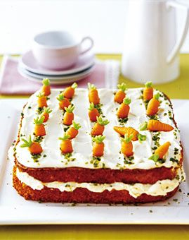A carrot field cake