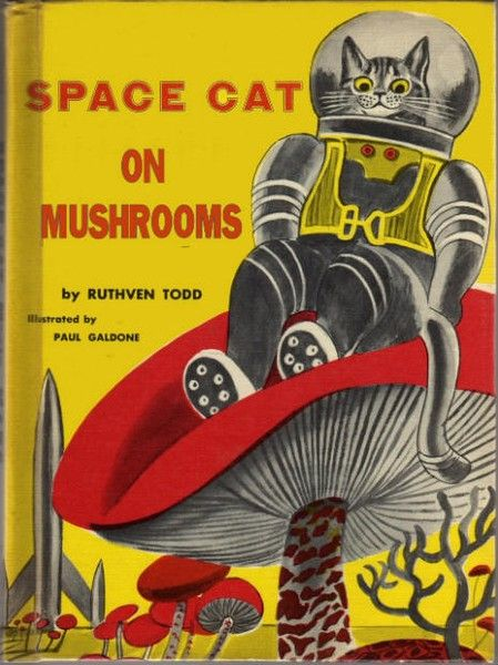 Vintage book covers: If you're as cool as Space Cat, there is no need for hallucinogens.
