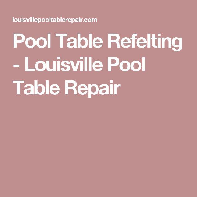 Pool Table Refelting - Louisville Pool Table Repair