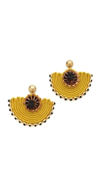 Holst + Lee #earrings #statement #jewellery #gold #yellow #black