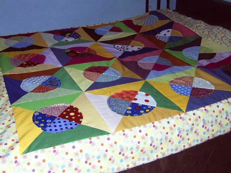 Cheery Polka dots quilt top ~by Gypsy Stitches~ BA
