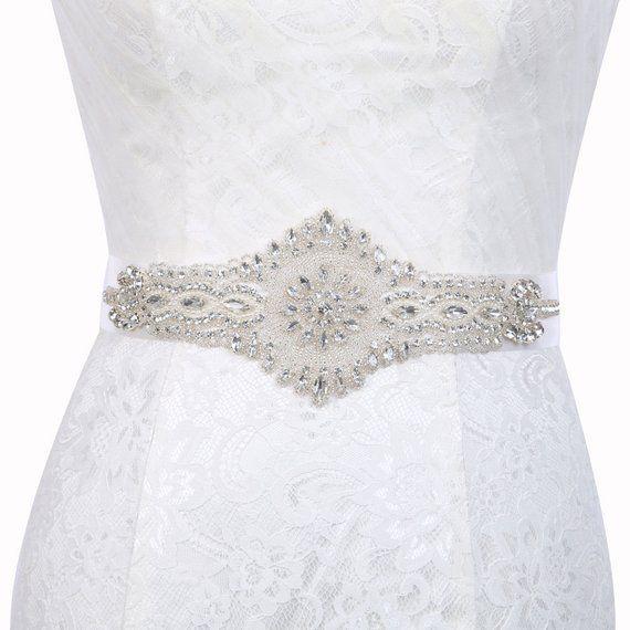 424576e23 Sash, Sparkly Wedding Belt, Long Rhinestone Belt, Bridal Rhinestone Belt, Crystal  Sash Belt, Wedding Dress Belts Crystal Silver