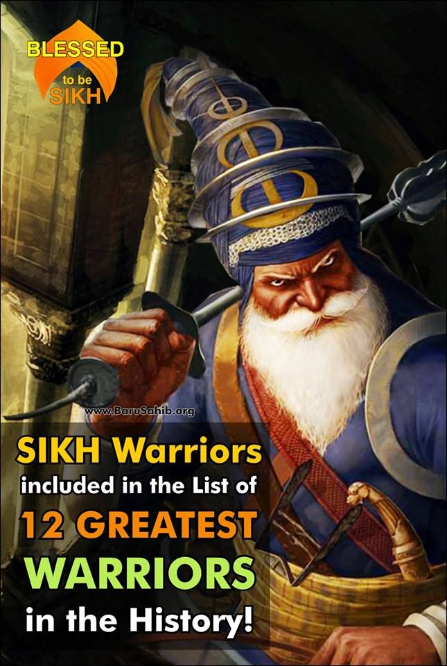 SIKH Warriors included in the List of 12 GREATEST WARRIORS in the History! Sikh warriors defeated an army 10 times their size. Mostly Sikhs were always outnumbered but they make sure they gave a crushing defeat to the enemy. Read More http://barusahib.org/…/sikh-warriors-included-in-the-list-…/ Share & Spread for the WORLD to know!