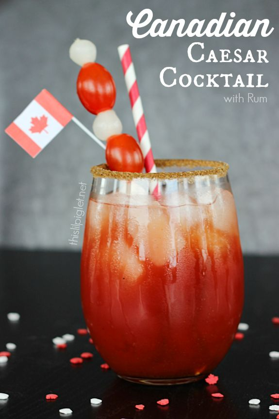 Cocktail or Mocktail, this Canadian Caesar is a perfect way to celebrate summer // thislilpiglet.net