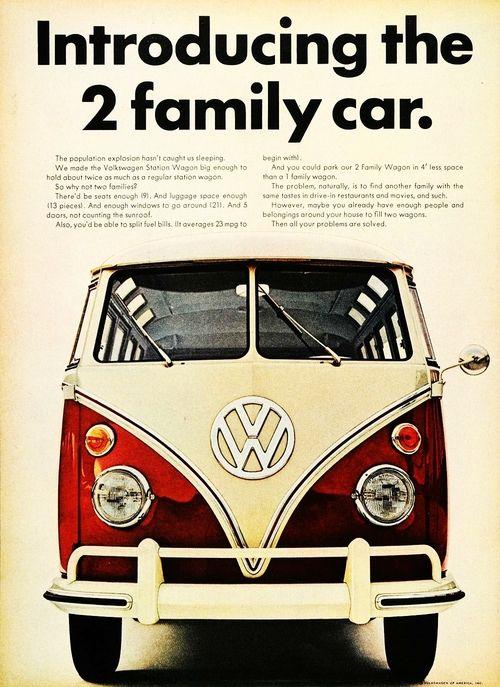 1966 Volkswagon Station Wagon advertisement.
