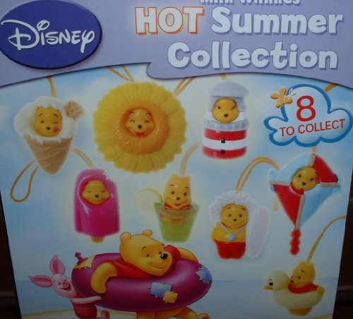 Winnie the Pooh Peek A Pooh Figure Set Hot Summer Edition Rare From Gacha