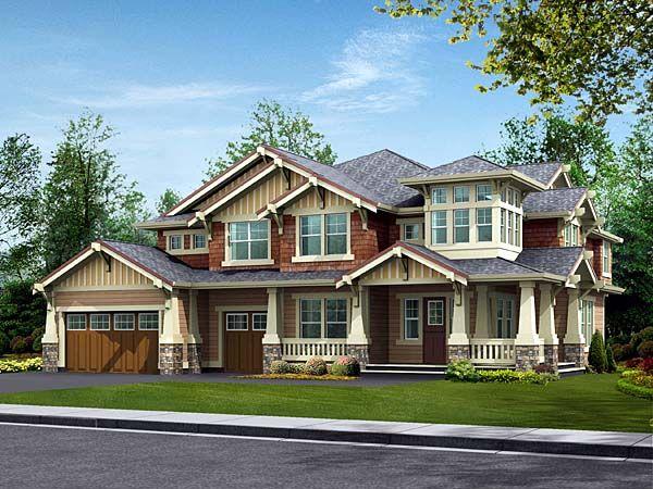 Best House Plans I Like Images On Pinterest Schumacher - Craftsman house plans with 3 car garage
