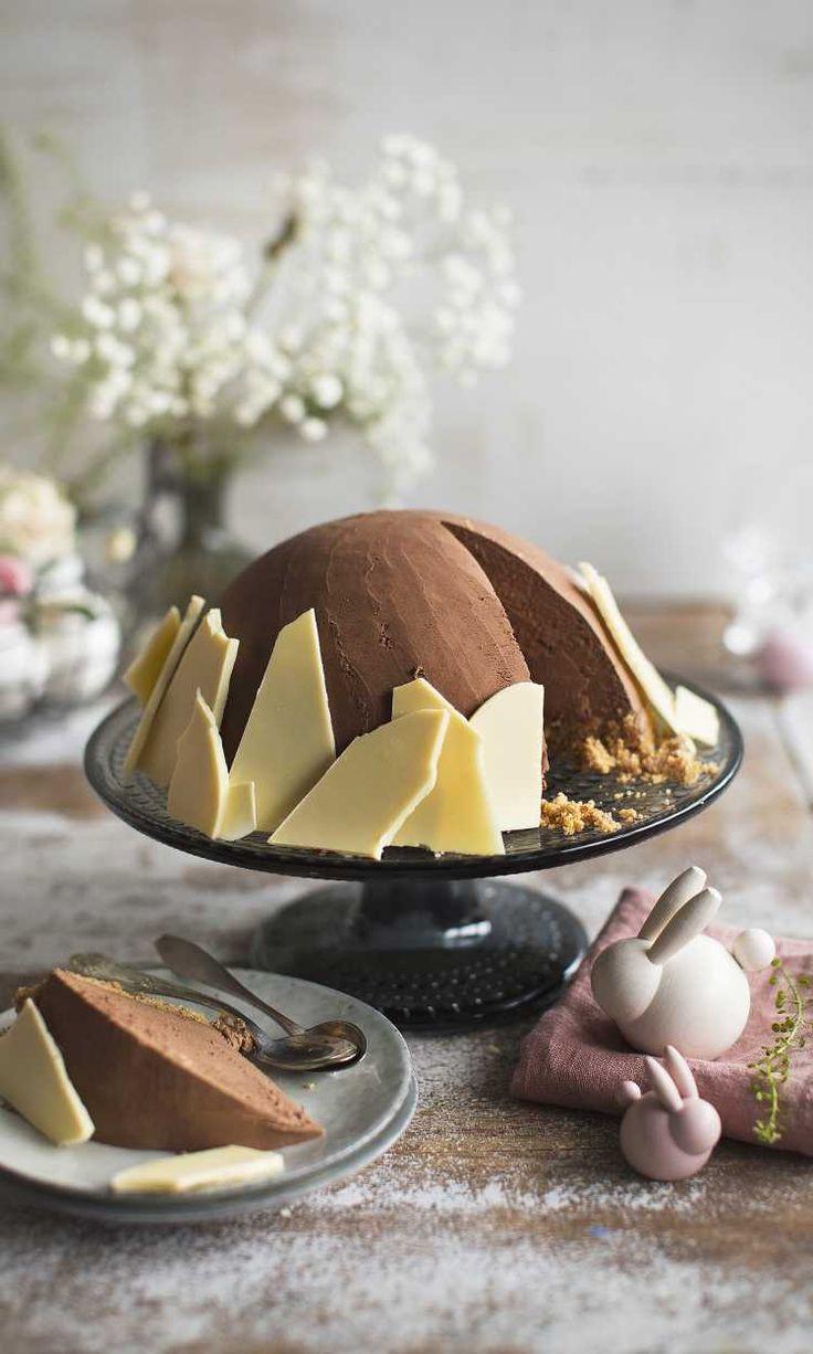 Mignonkakku – tämän pääsiäisen hitti yhdistää suosikkisuklaamunat ja juustokakun   Maku
