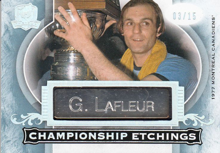 RARE! GUY LAFLEUR 2015/16 UPPER DECK THE CUP CHAMPIONSHIP ETCHINGS #03/15 | eBay