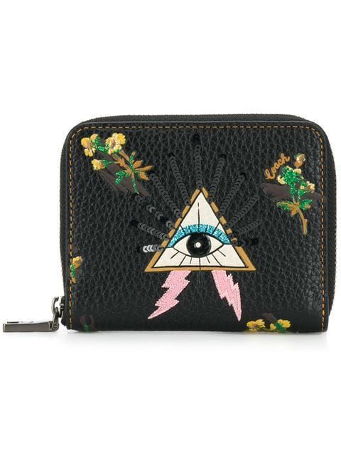 b35202354e786 Coach Pyramid Eye Small Zip Around Wallet - Farfetch  pursesziparound