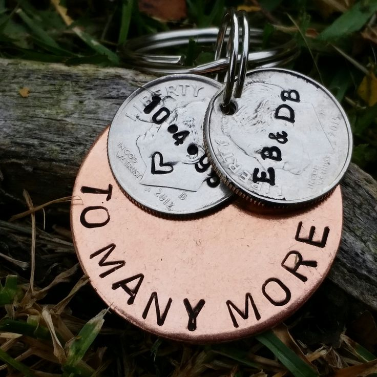 20 Year Anniversary Keychain 20th Gifts For Men Wedding