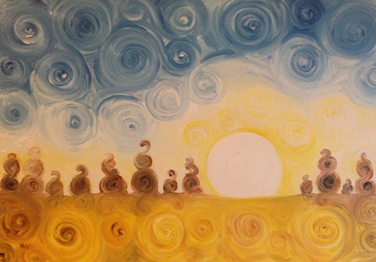 Dipinti ad olio: Alba
