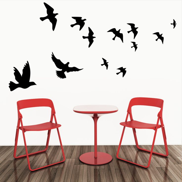 Flying Pigeon Bird Wall Art Stickers Decal DIY Home Decoration Wall Mural Removable Living Room Bedroom Decor