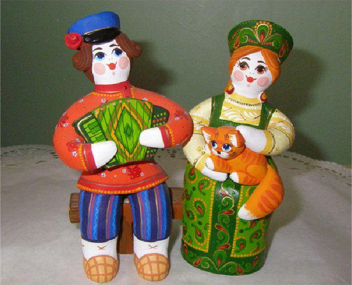 Картинка кукла из глины