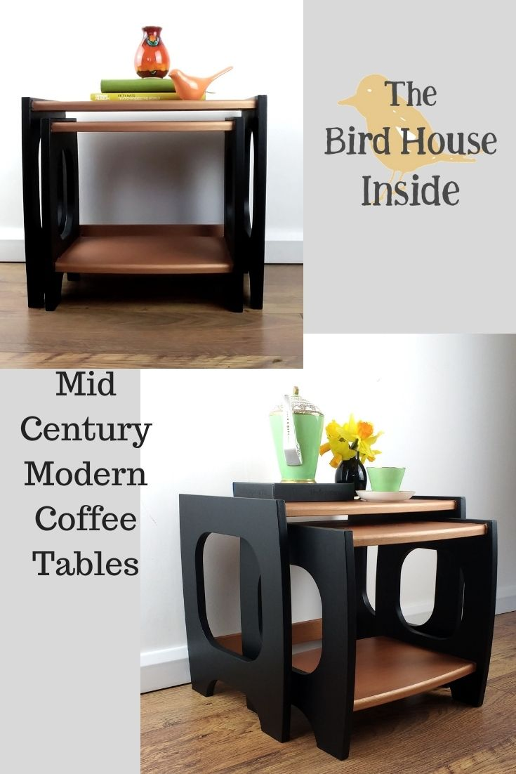 Hand Painted Mid Century Modern Coffee Tables Thebirdhouseinside Fusionmineralpaint Smallspacelivin Mid Century Modern Coffee Table Mcm Furniture Furniture [ 1102 x 735 Pixel ]