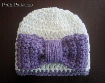 Crochet Pattern Cameron Crochet Hat Knit por TwoGirlsPatterns