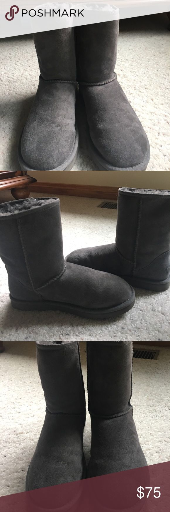 Grey Uggs Grey Uggs. Perfect condition. UGG Shoes Winter & Rain Boots