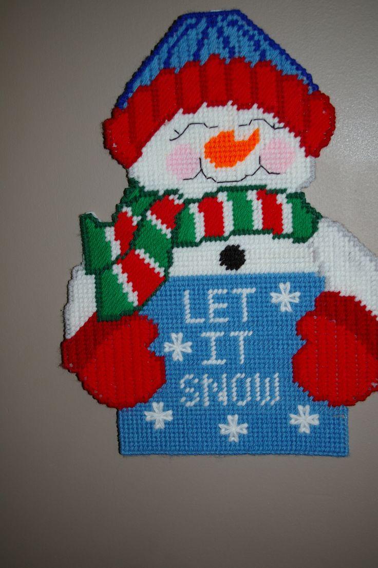 Plastic Canvas Snowman Plastic Canvas Pinterest