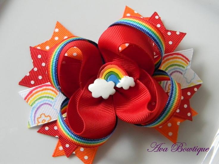 Over the Rainbow Boutique Hair Bow. $7.99, via Etsy.