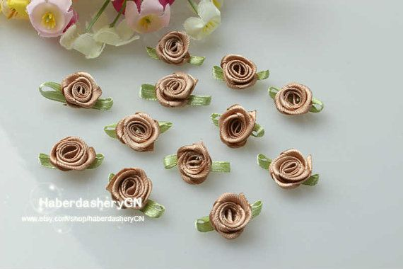 R10 FREE SHIP 450pcs Satin Ribbon Light brown by haberdasheryCN, $16.00