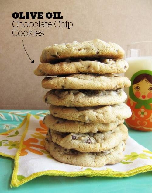 OLIVE OIL CHOCOLATE CHIP COOKIES | Umm!? Yum!! | Pinterest