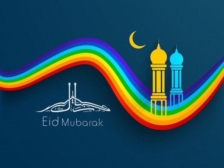 Eid mubarak, colourful and understated