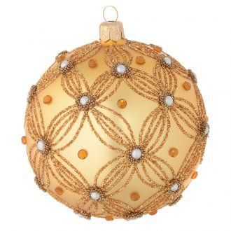 Tannenbaumkugel aus goldenen Glas 100mm | Online Verfauf auf HOLYART