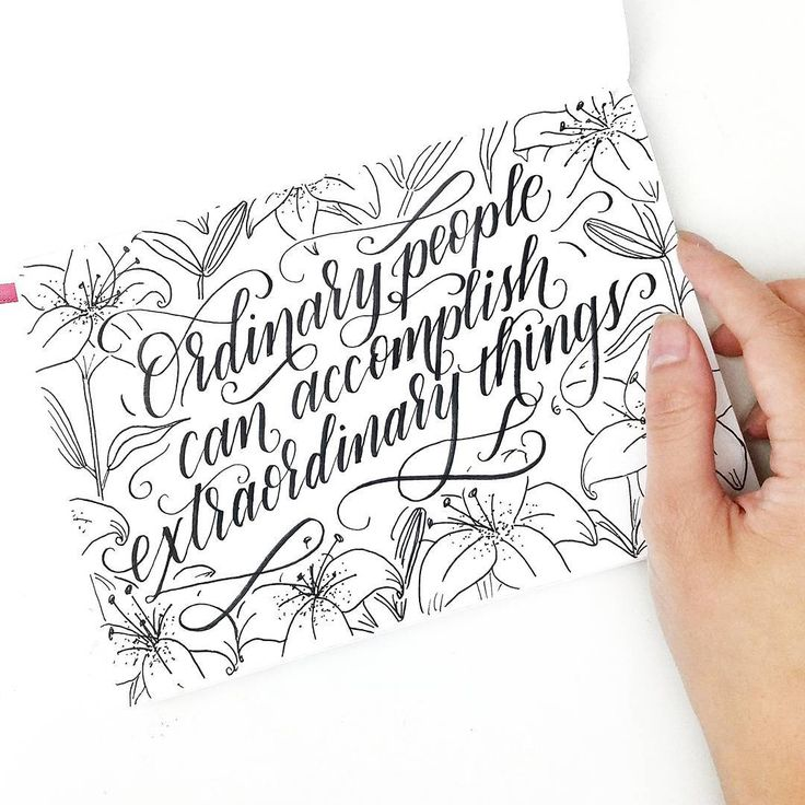 Best handlettering images on pinterest calligraphy