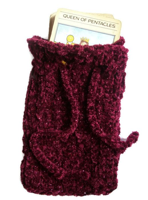 Tarot Pouch Bag Knitted in Luxurious by thekittensmittensuk, £11.00