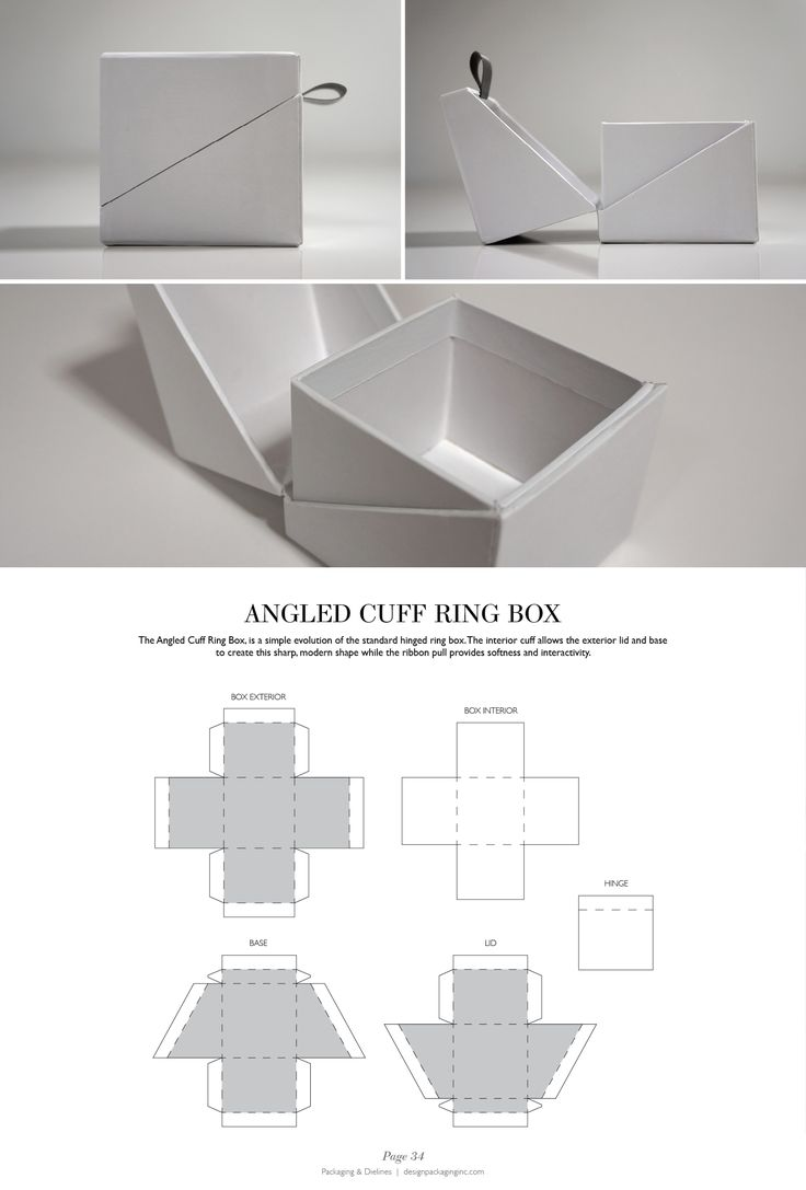 Angled Cuff Ring Box - Packaging & Dielines: The Designer's Book of Packaging Dielines