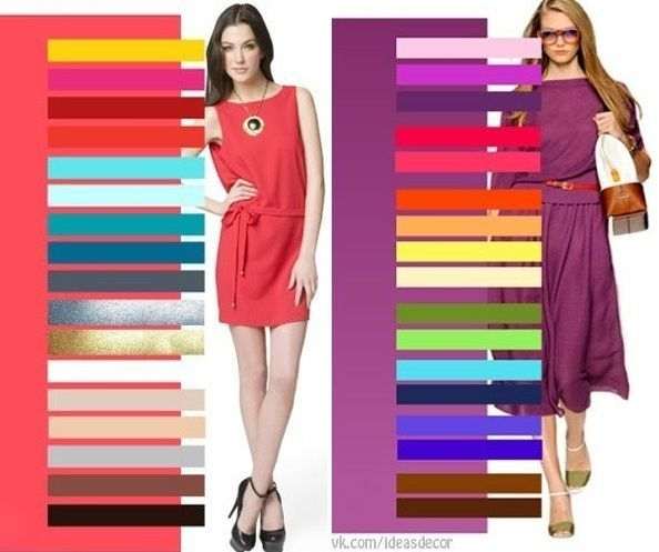 We all know that white works great with any color, when we choose the clothes to wear, but what about some more intriguing color combinations, like fuchsia or olive? Here's