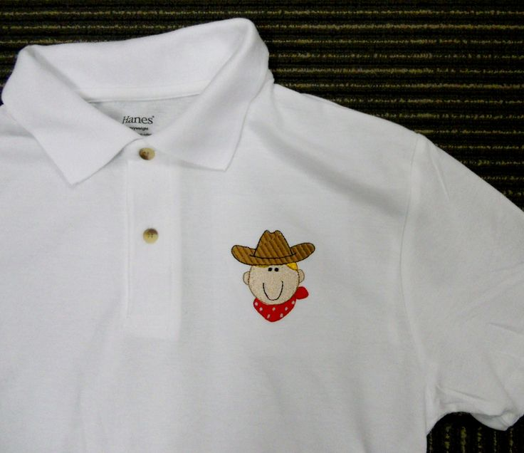 CowBoy Shirt! Personalised Polo Shirt embroidery by ThatCornerShop. #personalisedgifts #birthdaygifts #giftsforhim #giftsforher #giftideas #embroidery