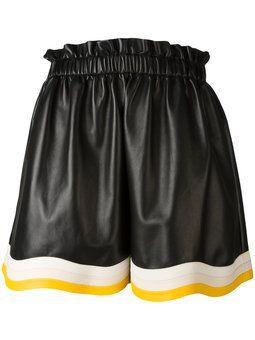 плиссированные шорты