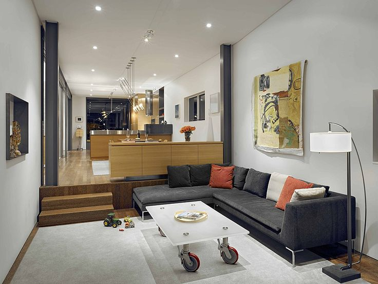 Living Room Interior And Furniture View In Cool Concrete Modern House Design By Zack De Vito