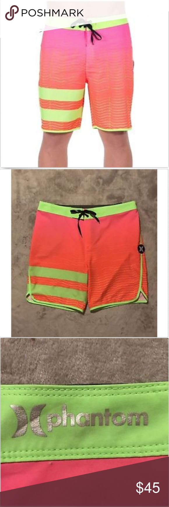 """NWT Hurley Mens Size 34 Phantom Block Party Speed NWT Hurley Mens Size 34 Phantom Block Party Speed 18"""" Inseam Swim Board Shorts   Condition: excellent brand new condition, There doesn't appear to be any stains tears or holes, pilling, fraying or snags. Hurley Swim Board Shorts"""
