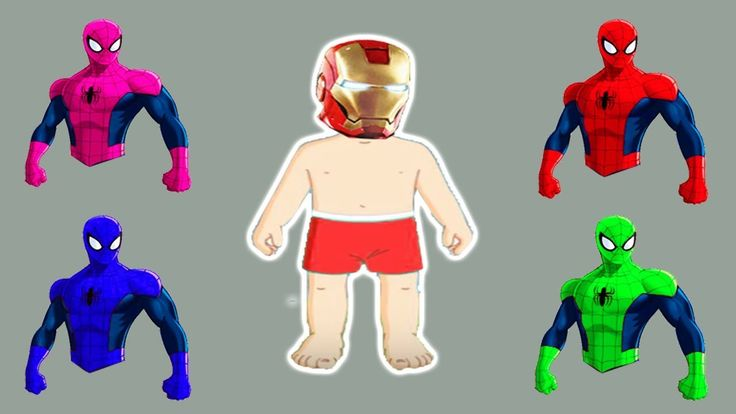 Learn Colors with Boss Baby Ironman Motu Patlu in Hindi Wrong Dress Spid...