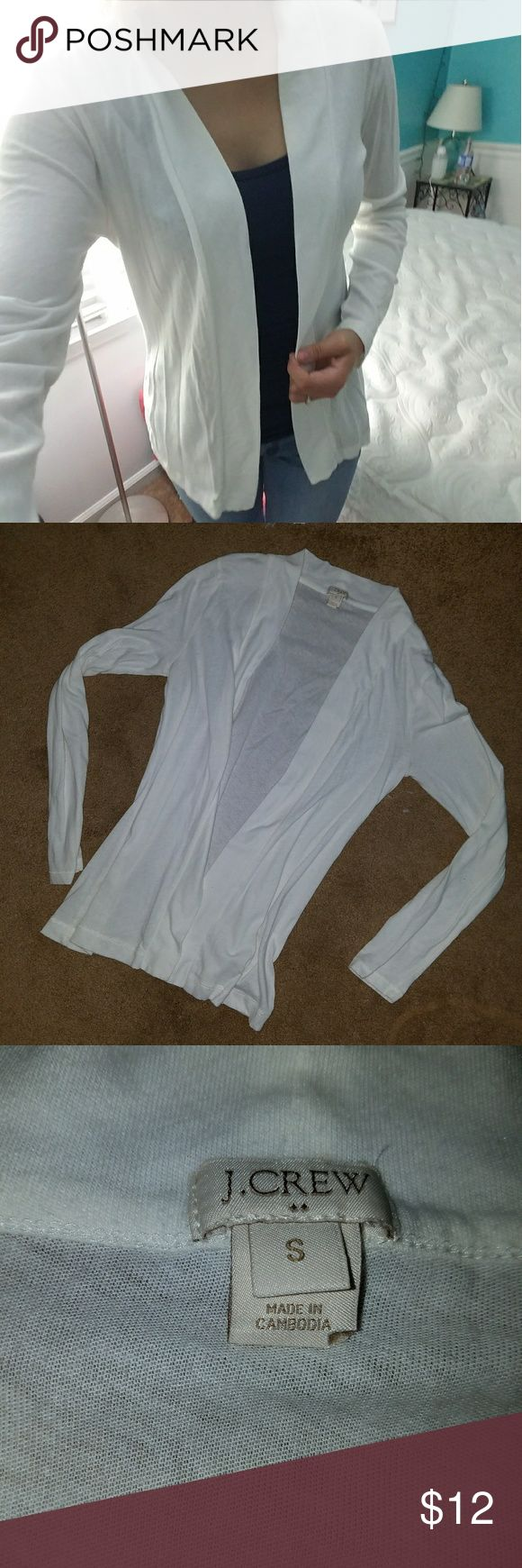 J crew white cardigan Long sleeve cardigan. Color is white. Brand is J crew. J. Crew Sweaters Cardigans